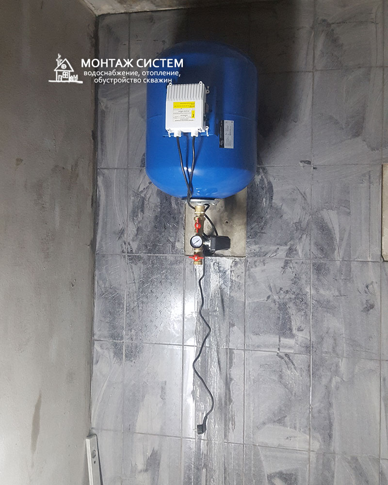 Установка расширительного бака для питьевого водоснабжения
