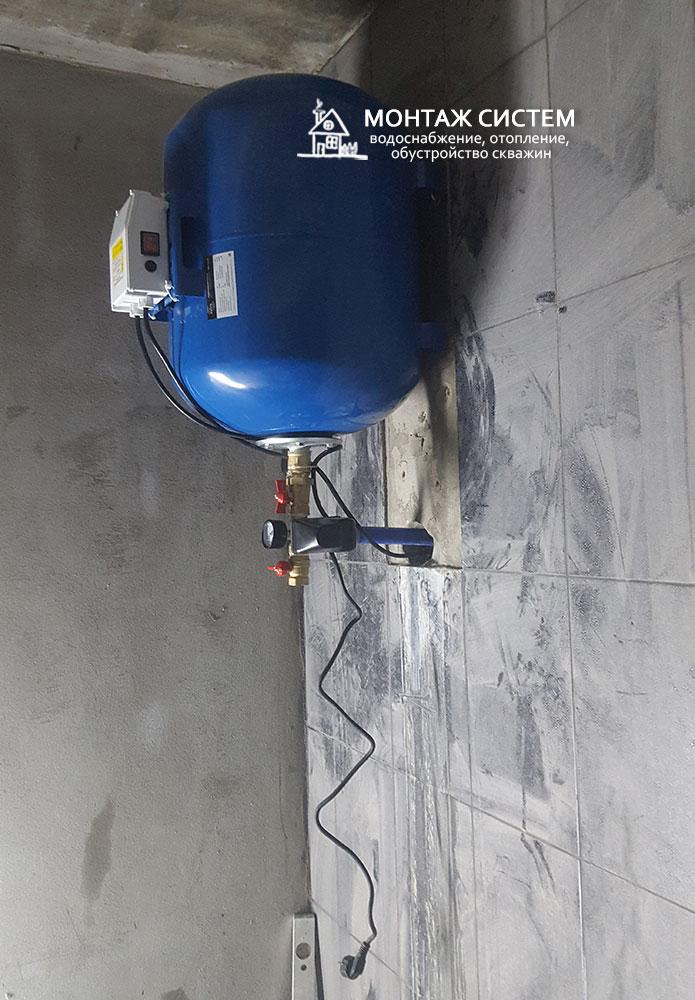 Установка гидроаккумулятора 80-100 л в частном доме